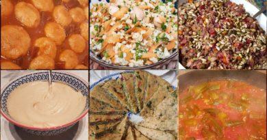 מאכלים ותבשילים מזרחיים טבעוניים